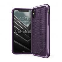 Защитный чехол с декоративной вставкой X-Doria Defense Lux Purple Poly для iPhone X/XS
