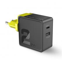 Сетевое ЗУ ROCK Sugar QC3.0 Charger 30W 2 USB