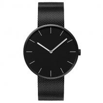 Классические наручные часы Xiaomi TwentySeventeen Черный циферблат / Черный браслет