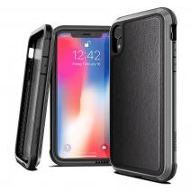 Защитный чехол с декоративной вставкой X-Doria Defense Lux Black Leather для iPhone XR