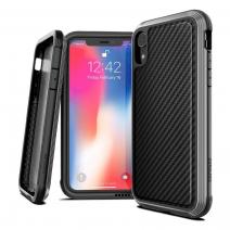 Защитный чехол с декоративной вставкой X-Doria Defense Lux Black Carbon для iPhone XR
