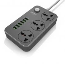 Cетевой удлинитель с USB портами LDNIO6 USB 3 Power Socket 2 m