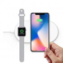 Беспроводная зарядка для iPhone и Apple Watch COTEetCI WS-7 2 in 1 Wireless Charger