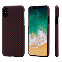 Чехол Pitaka Aramid MagCase Twill для iPhone X Black-Red
