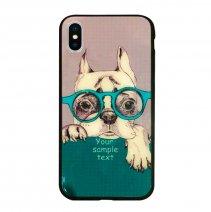 Чехол из TPU и стекла DOG & GLASSES для iPhone X