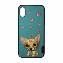 Чехол с вышивкой Comma Dog Embroidery Case Little Chihuahua