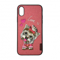 Чехол с вышивкой Comma Dog Embroidery Case Love You