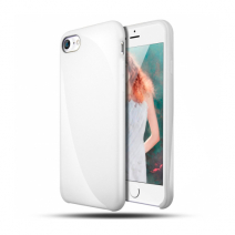 Силиконовый чехол цвета Jet White для iPhone 8 Plus/7 Plus
