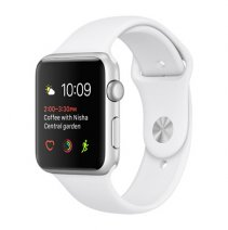 Умные часы Apple Watch series 2, 38mm , серебристые алюминиевые , спортивный браслет белого цвета
