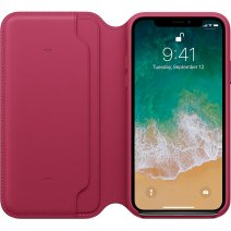 Чехол Apple iPhone X Leather Folio