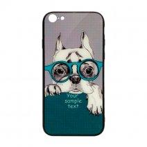 Чехол из TPU и стекла DOG & GLASSES для iPhone 7/8