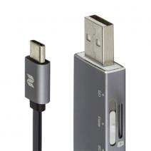Кабель + картридер ROCK USB/Type-C MicroSD OTG Reader & Cable RHD0909 USB  – Type-C