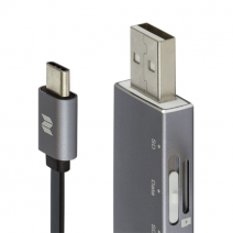 Кабель + кардридер ROCK USB/Type-C MicroSD OTG Reader & Cable USB  – Type-C