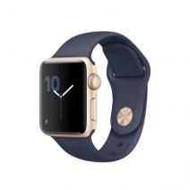 Умные часы Apple Watch series 1, 38mm , золотистый алюминиевый корпус, спортивный браслет синего цвета
