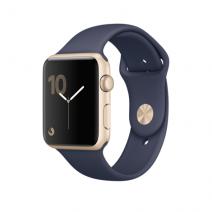 Умные часы Apple Watch series 2, 42mm , золотистый алюминиевый корпус, спортивный браслет синего цвета