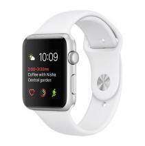 Умные часы Apple Watch series 1, 42mm, алюминиевый корпус серебристого цвета, спортивный ремешок белого цвета