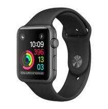 Умные часы Apple Watch series 1, 38mm, корпус из алюминия цвета «чёрный космос», спортивный ремешок черного цвета
