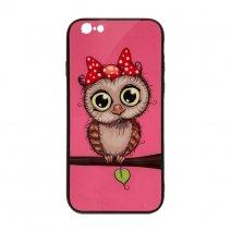 Чехол из TPU и стекла OWL для iPhone 6/6S