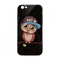 Чехол из TPU и стекла BAD OWL для iPhone 6/6S