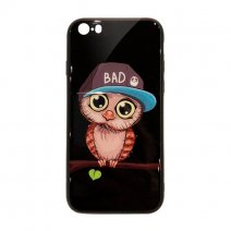 Чехол из TPU и стекла BAD OWL для iPhone 5/5S