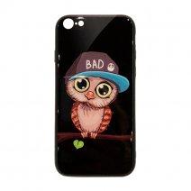 Чехол из TPU и стекла BAD OWL для iPhone 7/8