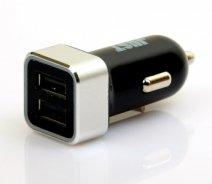Автомобильное зарядное устройство Just Storm Dual USB Car Charger 3.4A Black/silver