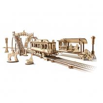 Механический деревянный конструктор Ugears Трамвайная линия 70028