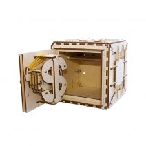 Механический деревянный конструктор Ugears Сейф 70011