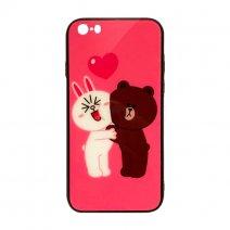 Чехол из TPU и стекла RABBIT & BEAR для iPhone 5/5S